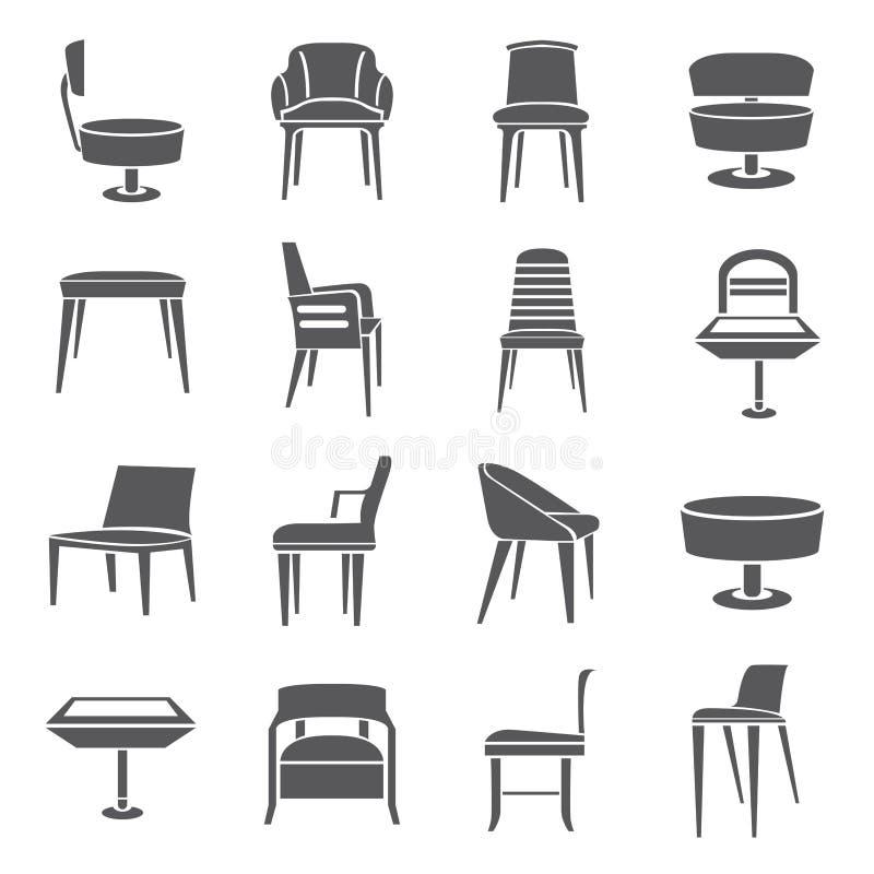 Krzesło ikony ilustracji