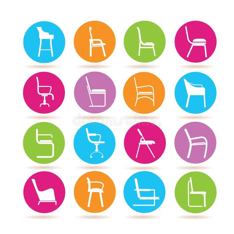 Krzesło ikony ilustracja wektor
