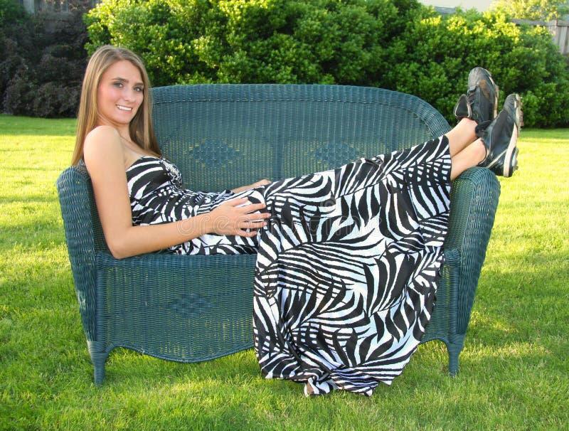 krzesło kobieta zdjęcia royalty free