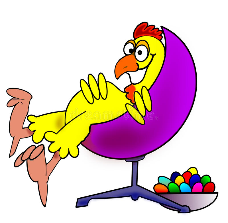 krzesło kurczak obraz stock