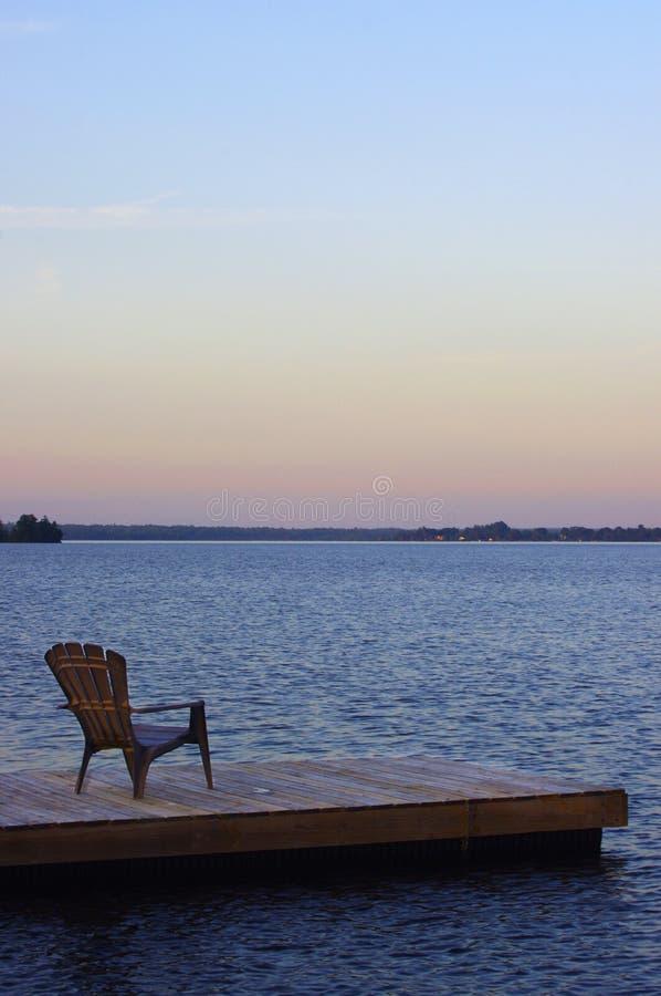 Krzesło na doku fotografia royalty free
