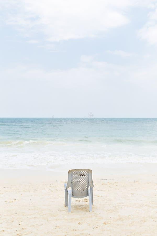 Krzesło na plaży zdjęcie stock