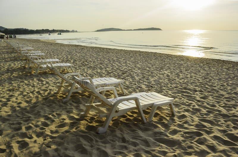 Krzesło na plaży zdjęcie royalty free