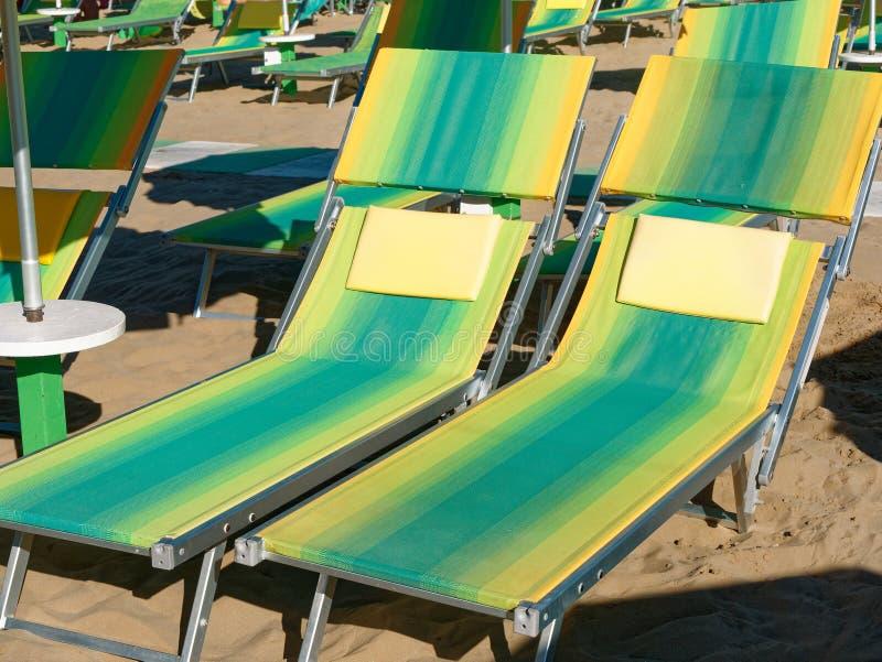 Krzesło na plaży w lecie obrazy royalty free
