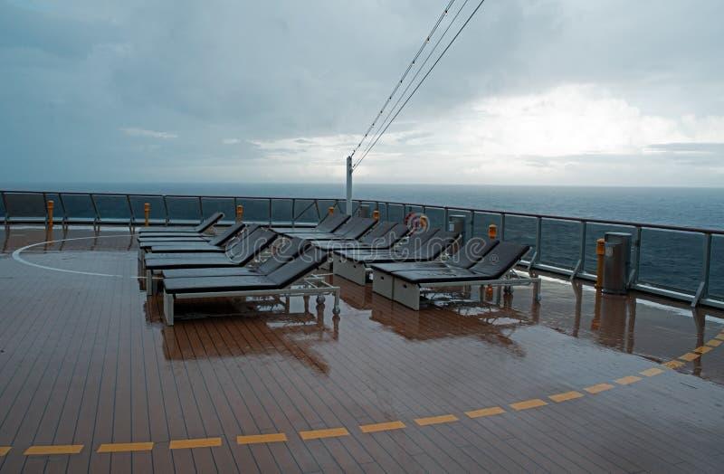 Krzesło na pokładzie statek wycieczkowy zdjęcia royalty free