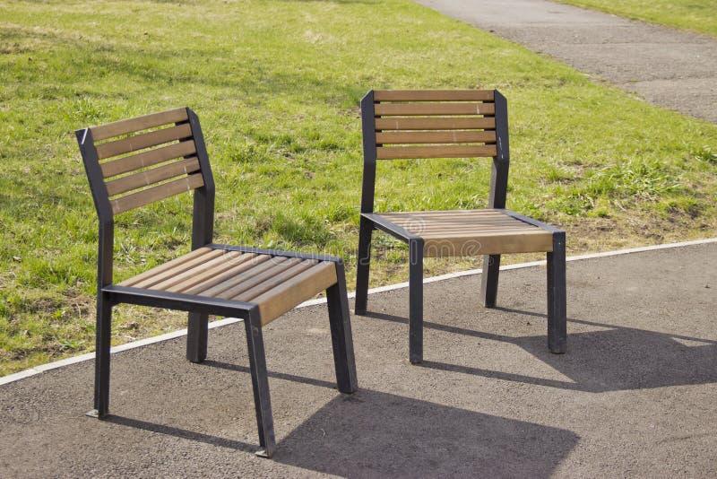 Krzesło na ulicie dla odpoczynku fotografia stock