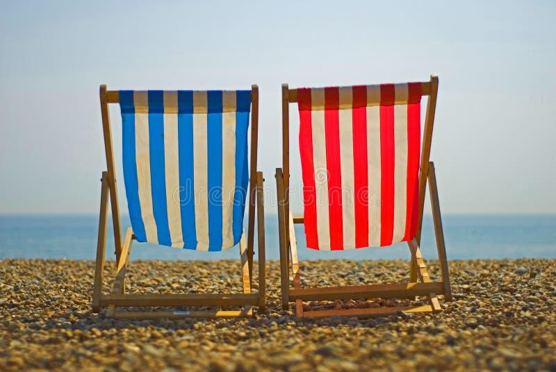 krzesło plażowi kolor obrazy royalty free