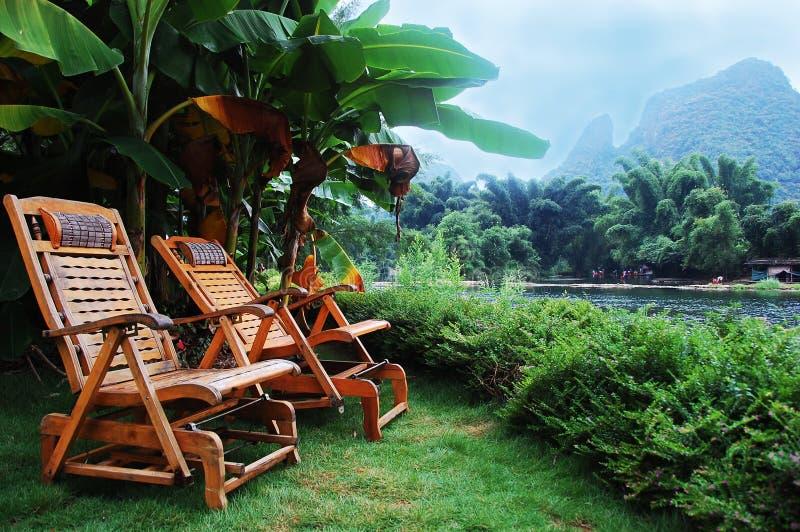 krzesło plażowy kurort zdjęcie stock