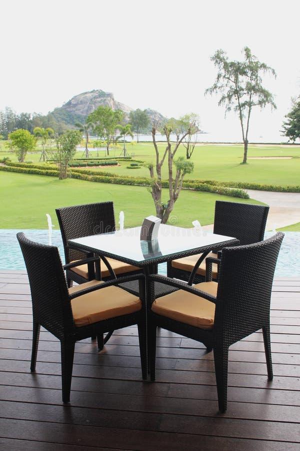 krzesło pokład relaksuje obrazy royalty free