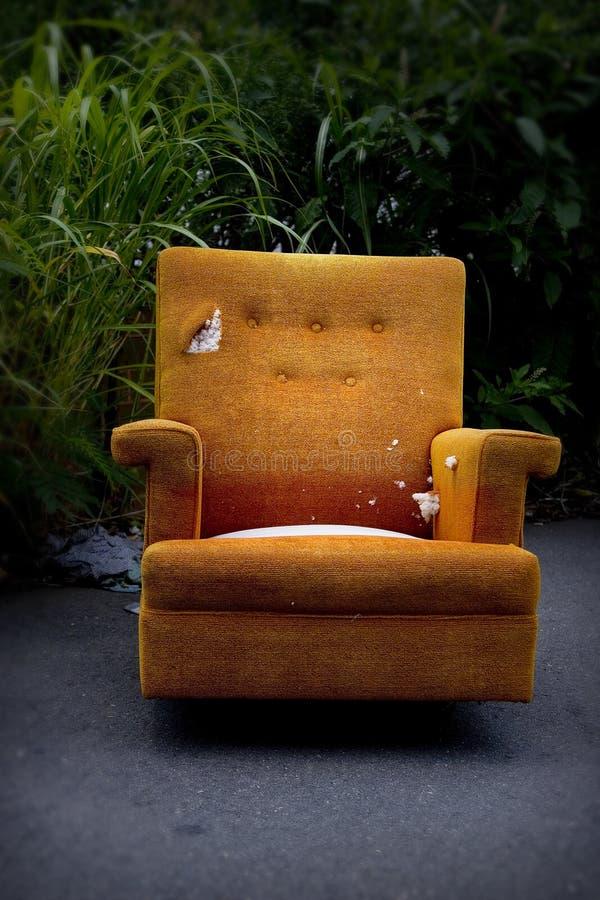 krzesło pomarańcze obrazy royalty free