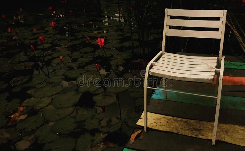 krzesło samotny zdjęcia royalty free