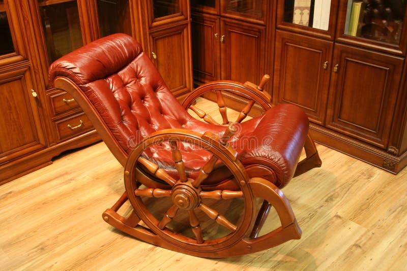 krzesło skóry rocka obrazy stock