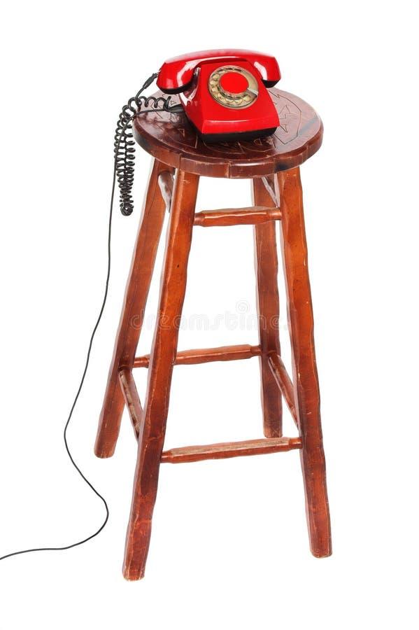 krzesło telefon zdjęcia stock