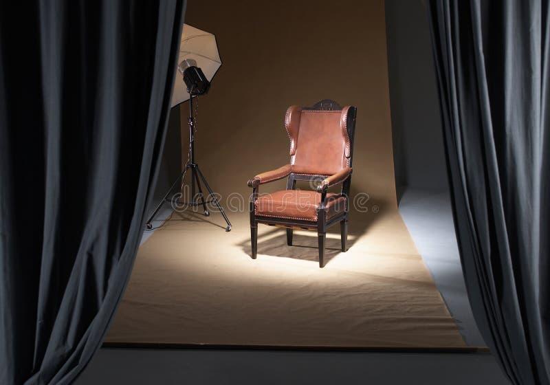 Krzesło w photostudio fotografia royalty free