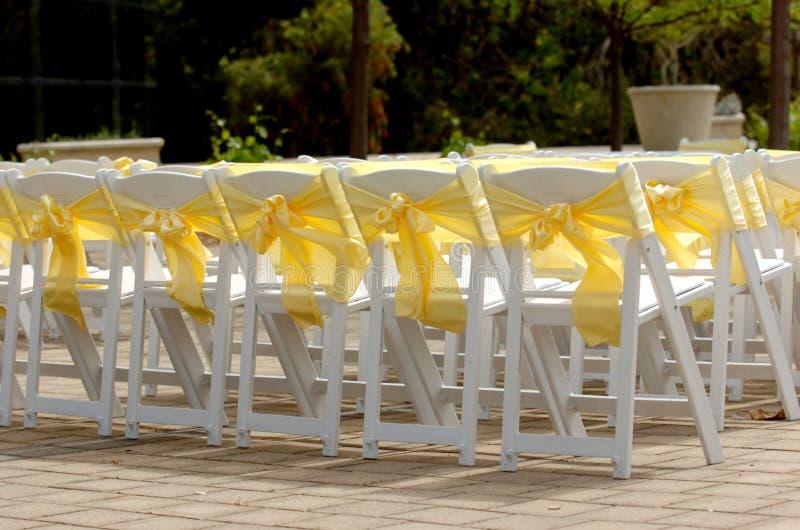 krzeseł poślubiać zdjęcia stock