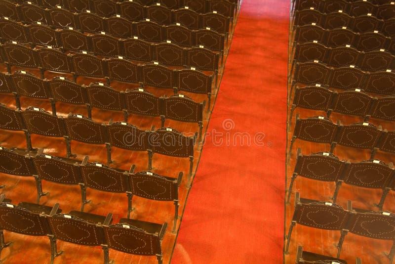 krzeseł rzędów teatr fotografia royalty free