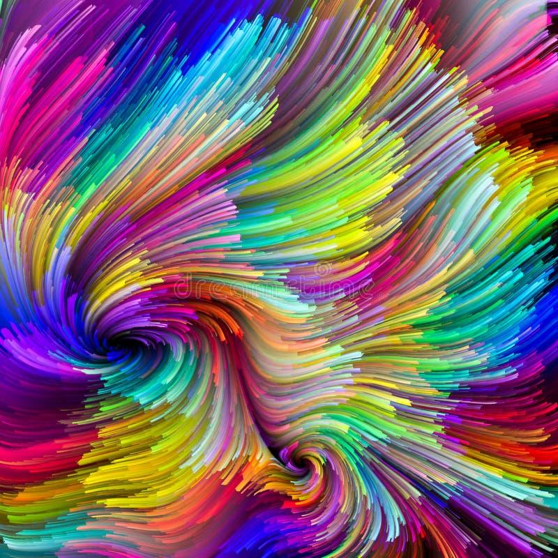 Krzewienie Ciekły kolor ilustracja wektor