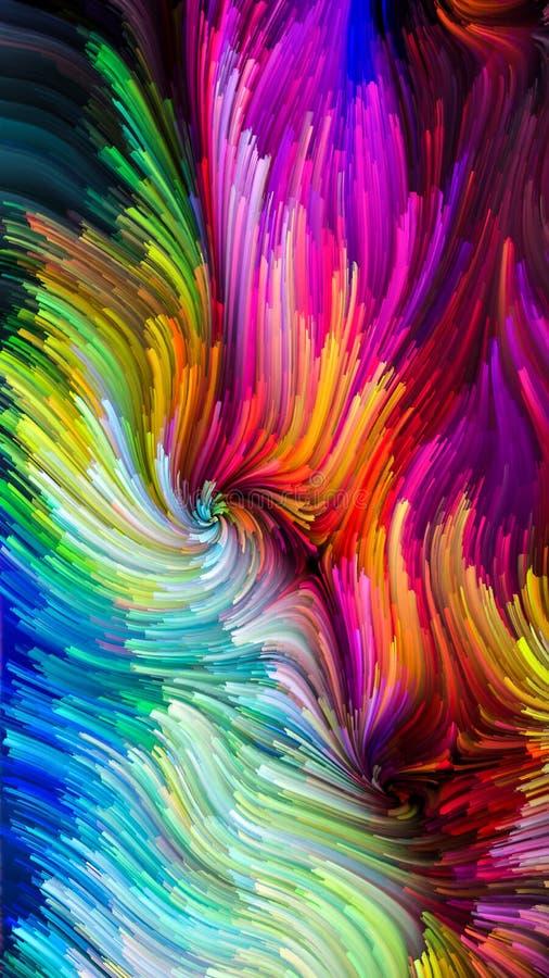 Krzewienie Kolorowa farba ilustracji