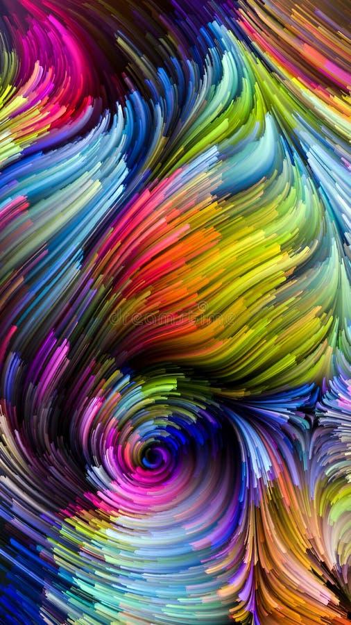 Krzewienie Kolorowa farba ilustracja wektor