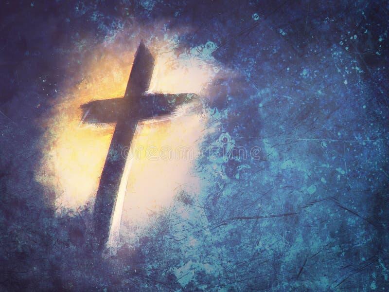 Krzyż jezus chrystus ilustracja wektor