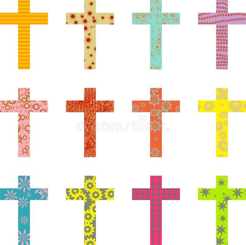 krzyż deseniujący ilustracja wektor