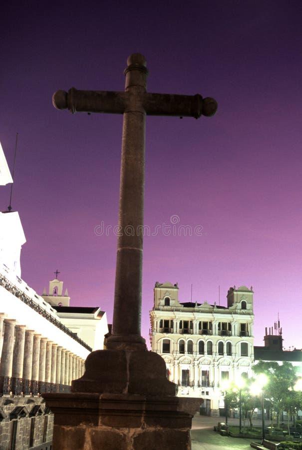 krzyż Ecuador Quito zdjęcie royalty free