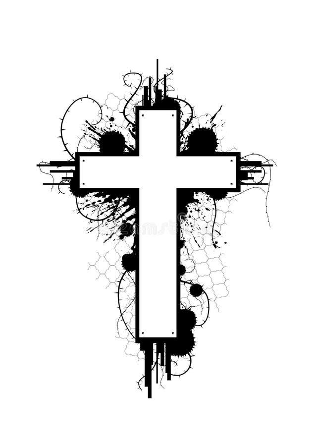 krzyż emblemata crunch ilustracja wektor