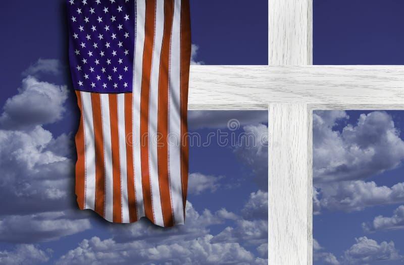 Krzyż i Stara chwała obraz stock