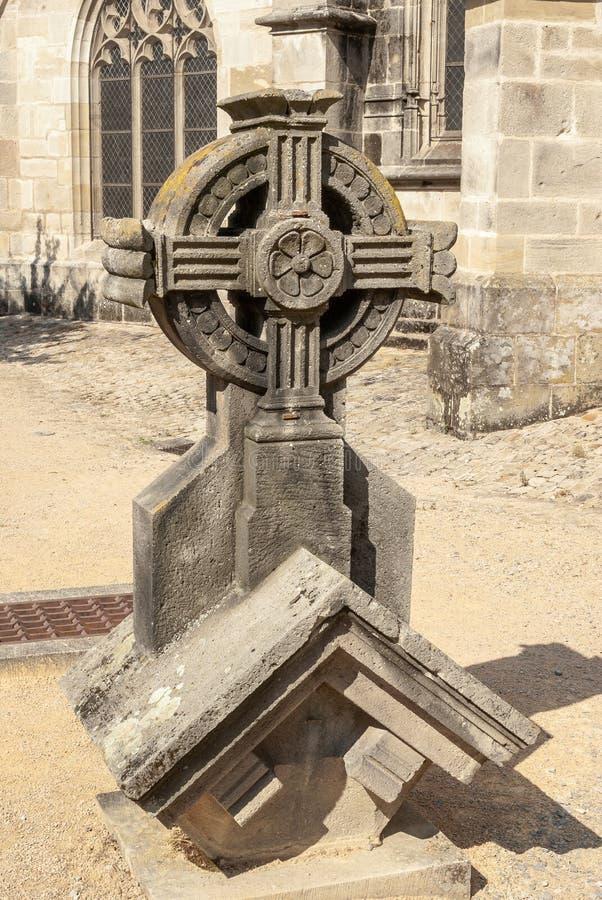 Krzyż, Katedralny Autun, Francja, Burgundy zdjęcia royalty free