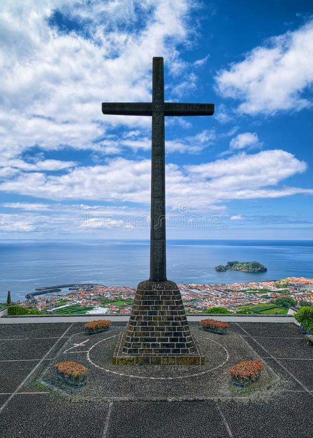 Krzyż Nasz dama pokój kaplica, Sao Miguel wyspa, Azores, Po zdjęcia stock