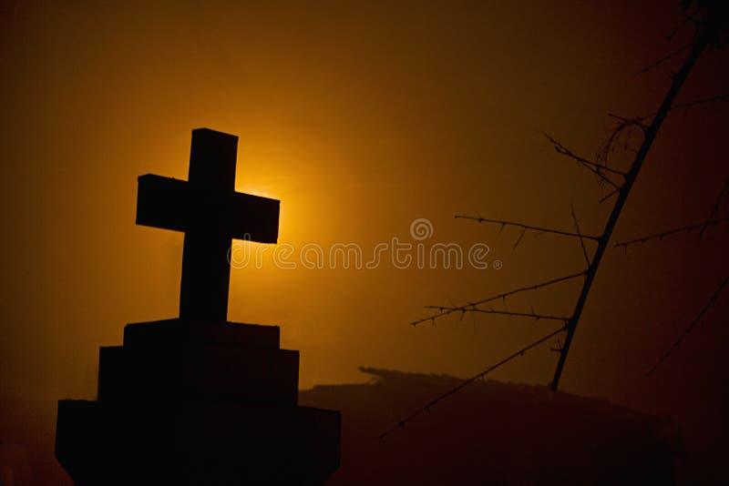 Krzyż przed goan domem, India zdjęcie royalty free
