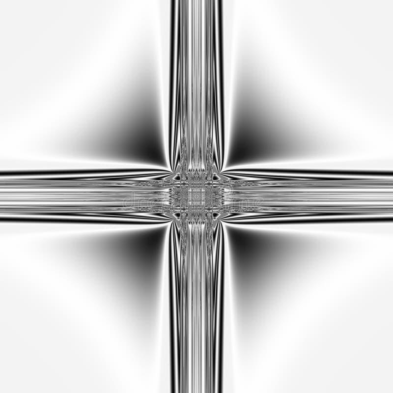 krzyż przez komputer royalty ilustracja