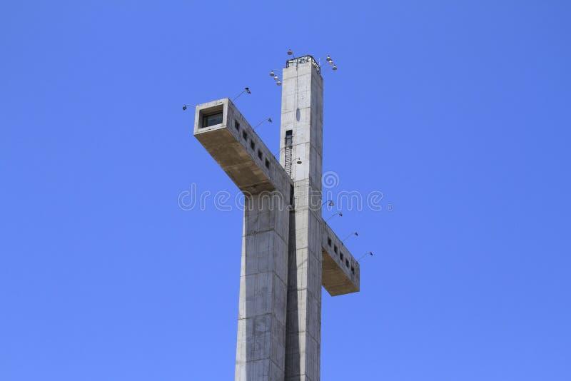 Krzyż trzeci milenium przy Coquimbo Chile obraz stock