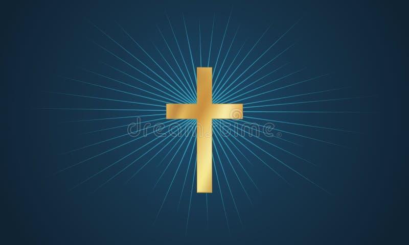 Krzyż w łunie royalty ilustracja
