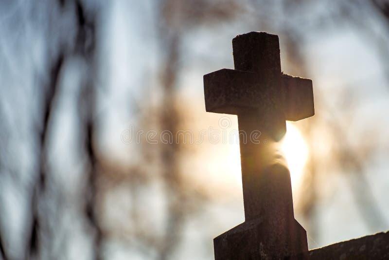Krzyż w plecy świetle zdjęcie stock