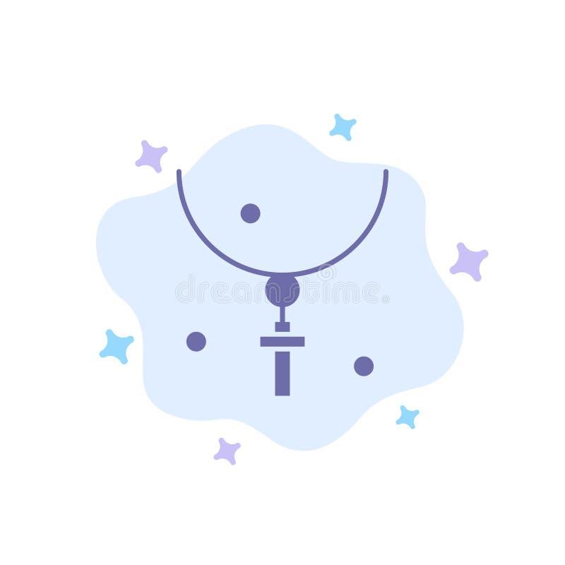 Krzyż, wielkanoc, Halloween, wakacje, kolii Błękitna ikona na abstrakt chmury tle ilustracja wektor