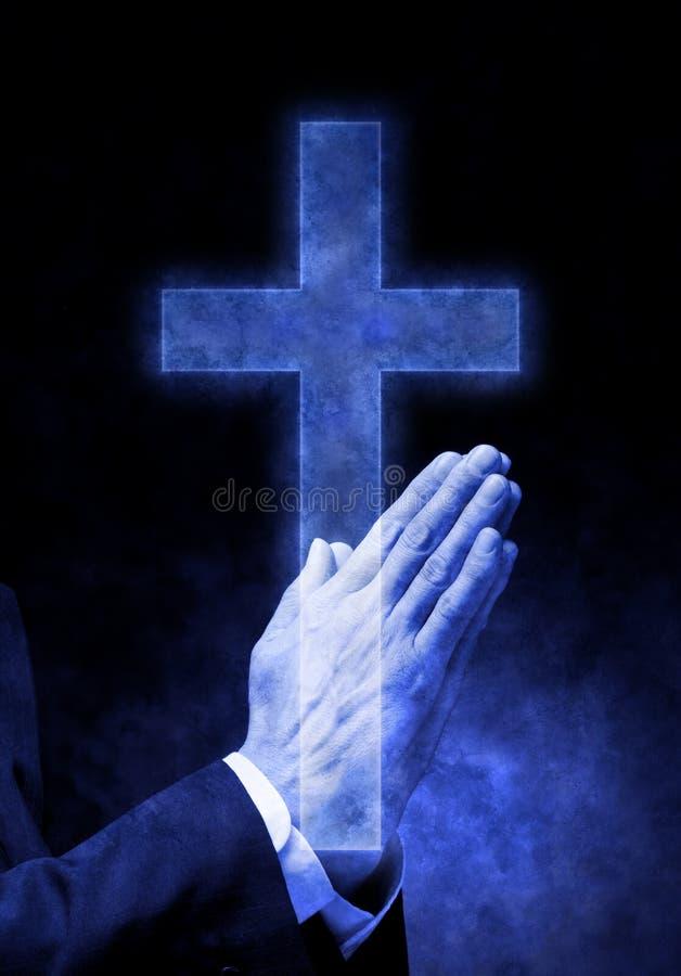 krzyż wręcza modlenie religię fotografia royalty free
