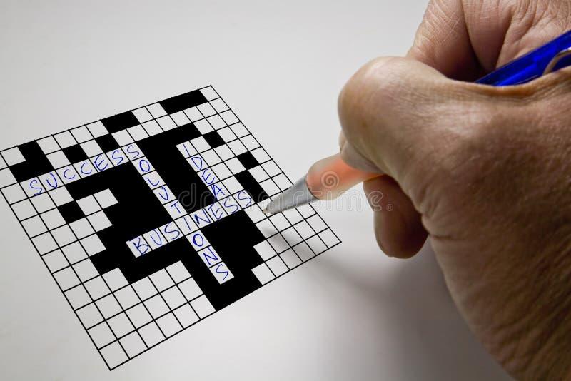 krzyża przedsiębiorstw puzzle słowo obrazy royalty free
