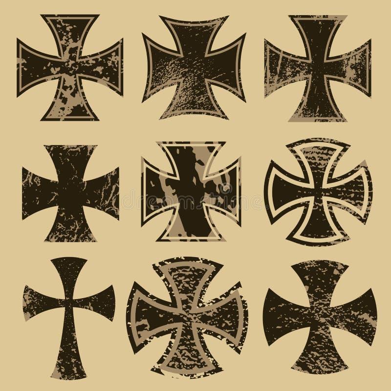 krzyże royalty ilustracja