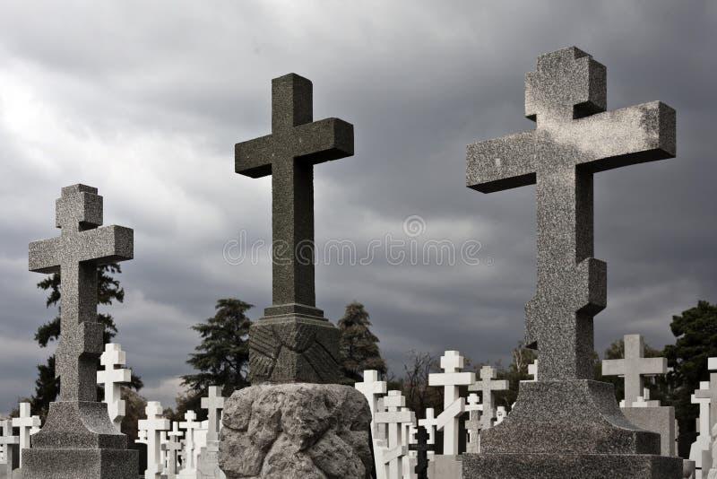 Krzyże kamienne i marmurowe obraz stock