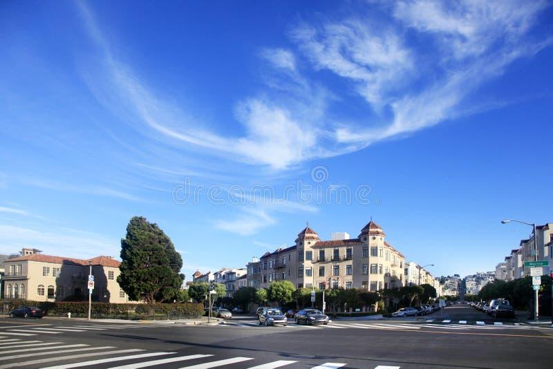 Krzyżować Marina ulicę i Scott ulicę w San Fransisco fotografia royalty free