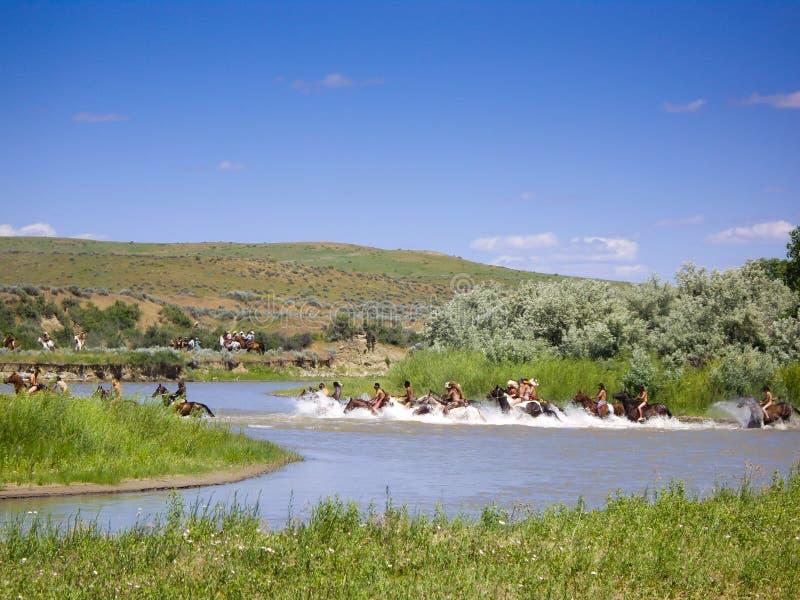 Krzyżować rzekę przy bitwą little bighorn zdjęcie stock