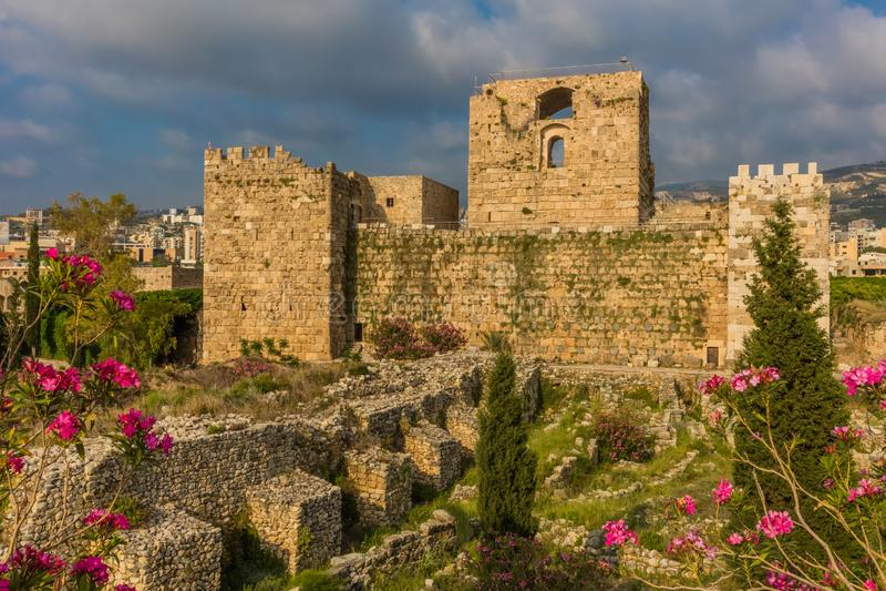 Krzyżowa kasztel Byblos Jbeil Liban zdjęcie royalty free