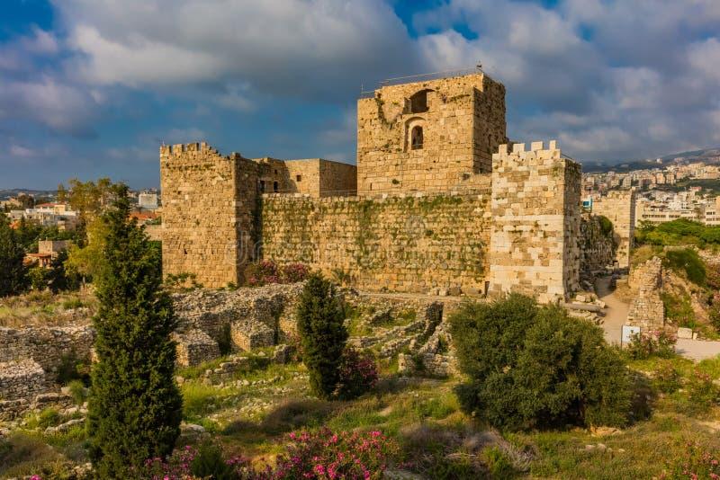 Krzyżowa kasztel Byblos Jbeil Liban fotografia stock