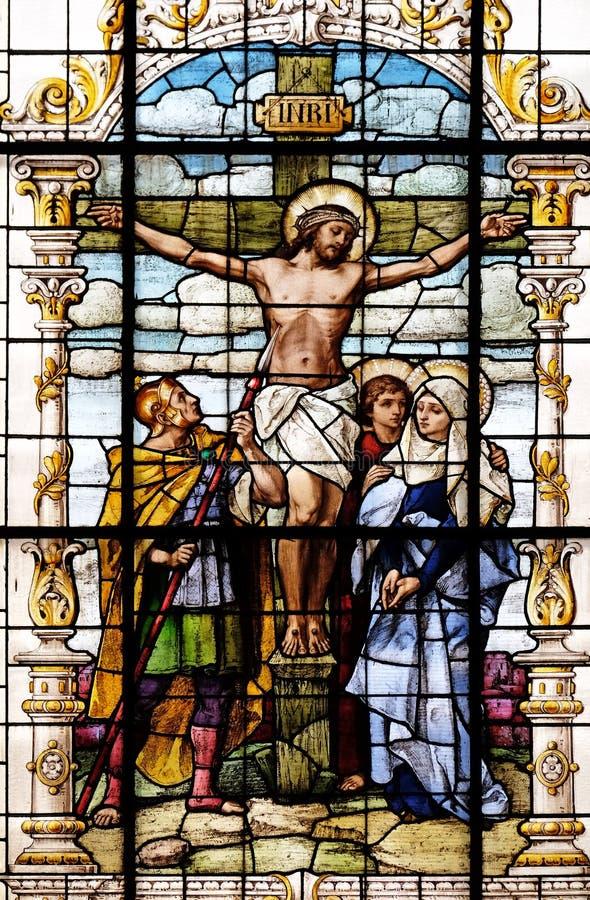 Krzyżowanie, Jezus umierał na krzyżu fotografia stock