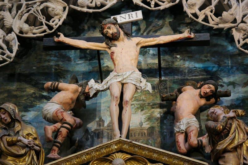Krzyżowanie scena w Burgos katedrze zdjęcia royalty free