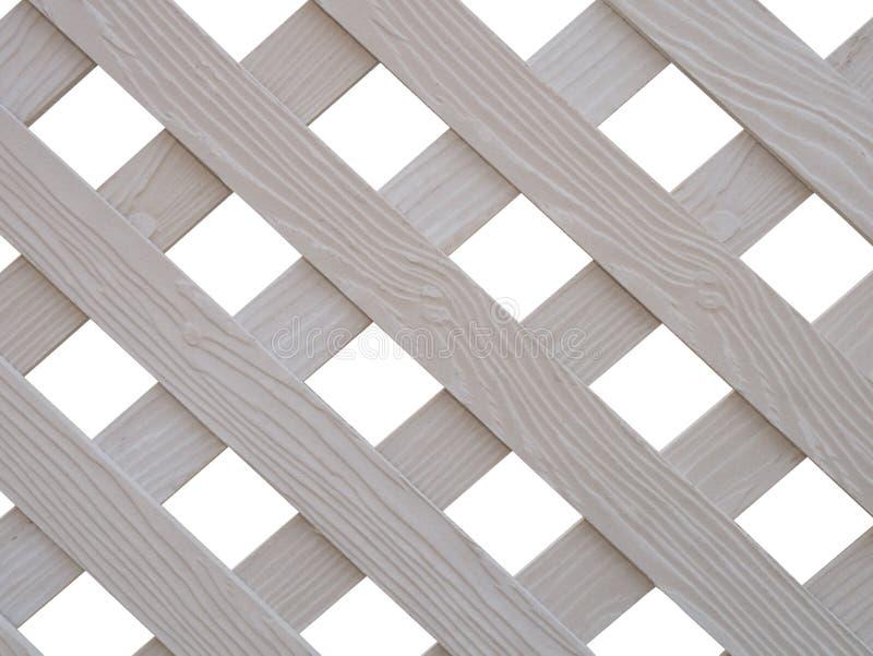 Krzyżujący biały drewniany lath zdjęcie royalty free