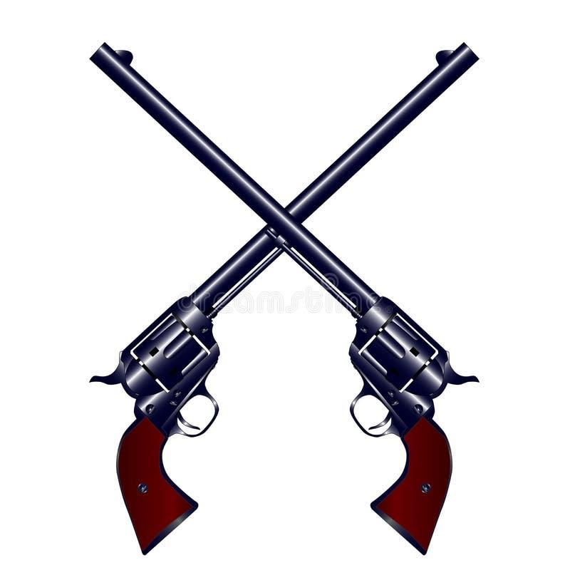 Krzyżujący pistolety ilustracji
