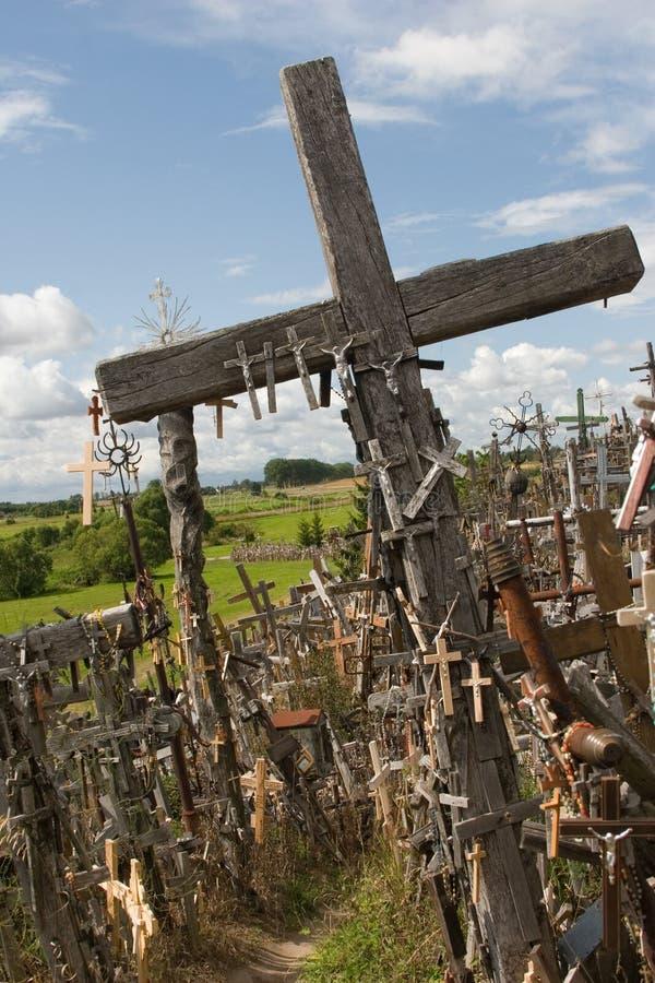 krzyżuje wzgórze Lithuania obraz royalty free