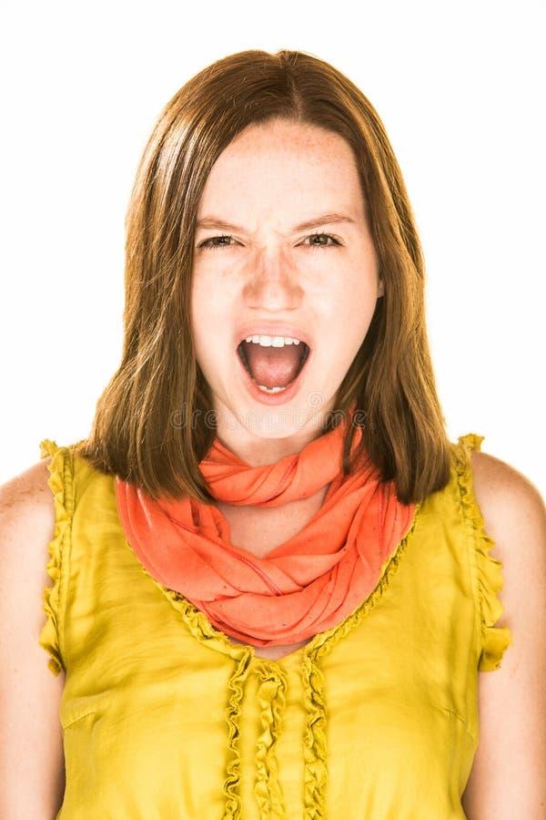 Krzycząca dziewczyna fotografia stock